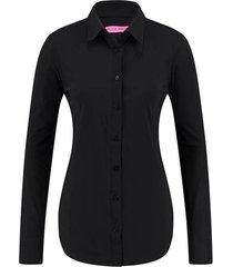 studio anneloes dames poppy blouse basis zwart
