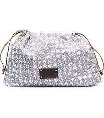 10 corso como logo-print pouch bag - grey white