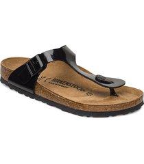 gizeh shoes summer shoes flat sandals svart birkenstock