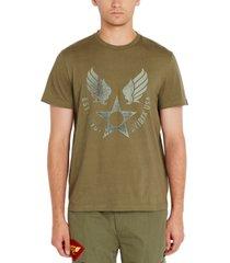 avirex men's logo star graphic t-shirt