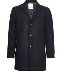 wool coat wollen jas lange jas blauw lindbergh