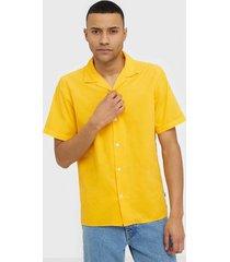nn.07 miyagi short 5082 skjortor saffron