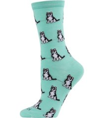 memoi huskies women's novelty socks