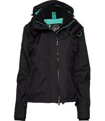 arctic hooded pop zip windcheater fodrad jacka svart superdry