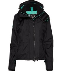 arctic hooded pop zip windcheater fodrad jacka svart superdry