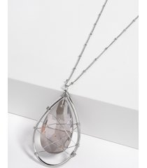 maurices womens black caged pendant necklace