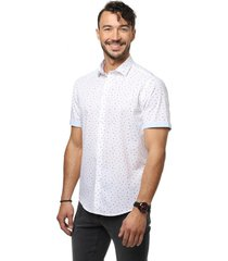 camisa casual blanco guy laroche