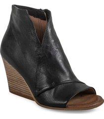 women's miz mooz kimball open toe bootie, size 9.5-10us - black