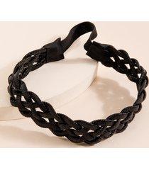 women's brandi braided hairwrap in black by francesca's - size: one size