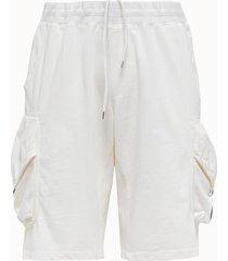 c.p company shorts cargo in felpa bianca