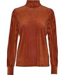 basic stripe top blouse lange mouwen bruin maud