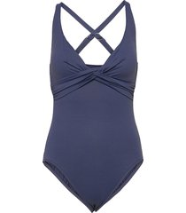 seafolly dd wrap front maillot baddräkt badkläder blå seafolly