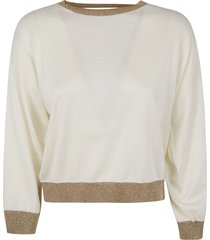 fabiana filippi v-back glitter applique sweater