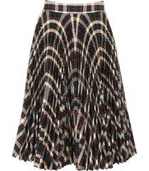 calvin klein pleated check skirt