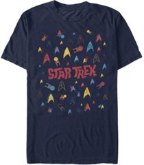star trek men's the original series retro logo confetti short sleeve t-shirt