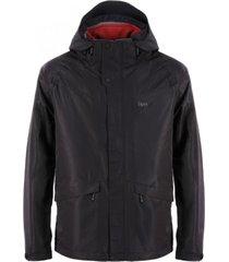 chaqueta tres cruces fusion-3 hoody jacket negro lippi