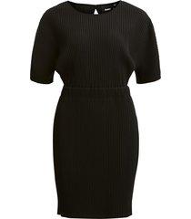 plissé jurk zwart objraisa - object