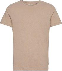 jjelinen basic tee ss crew neck sts t-shirts short-sleeved beige jack & j s