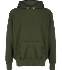les tien relaxed-fit cotton hoodie - green