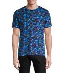 robert graham men's street rodders cotton t-shirt - blue multi - size l