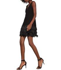 bcbgmaxazria addilyn fringe-trim shift dress