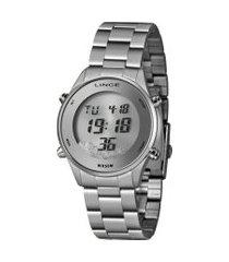 relógio digital lince feminino - sdm4638l sxsx prateado