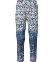 7/8-broek van 100% katoen met ornamentenprint van green cotton blauw