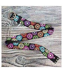 wool belt, 'andean multicolor' (peru)