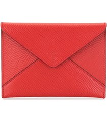louis vuitton pre-owned envelope invitation leather clutch - vermelho