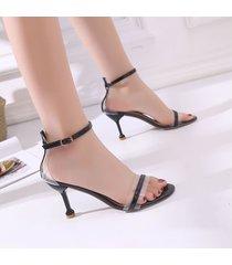 sandalias de tacón alto para mujer sandalias de verano transparentes