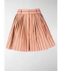chloé striped wide shorts