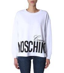 moschino round neck sweatshirt