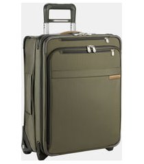 briggs & riley baseline 21-inch international expandable rolling carry-on - green