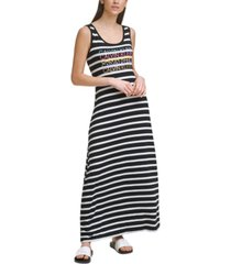 calvin klein sleeveless striped dress