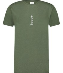 pure white t-shirt army green
