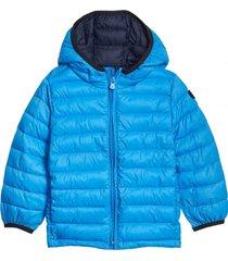 chaqueta boy coldcontrol puffer azul gap