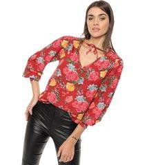 blusa roja newliza 2045
