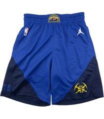 jordan men's denver nuggets statement swingman shorts