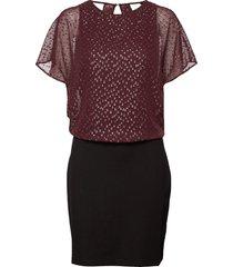 dresses light woven korte jurk paars esprit casual