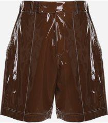 gcds shiny pvc shorts