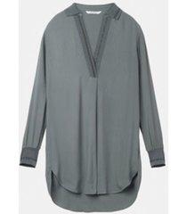 blouse woven long sleeves