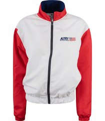 autry logo chest jacket