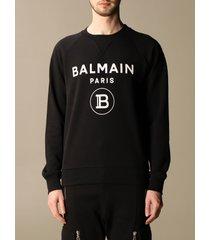 balmain sweatshirt balmain cotton sweatshirt with logo