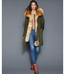 the fur vault fox-fur-trim rabbit-lined parka