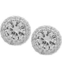 anne klein crystal halo stud earrings