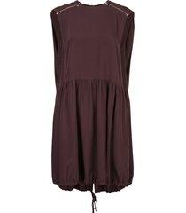 tibi d-ring cape dress - purple