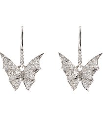 'fly by night' diamond 18k white gold stud earrings