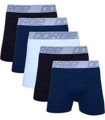 kit 5 cuecas boxer new skin dorbe