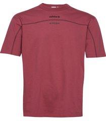 f tee t-shirts short-sleeved röd adidas originals