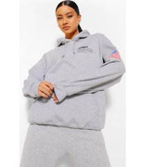 gelicenseerde nasa hoodie met zakken, grey marl